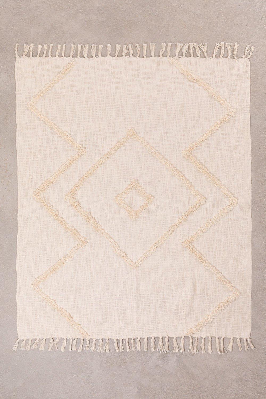 Karierte Decke aus neutraler Baumwolle, Galeriebild 1
