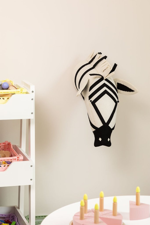 Tierkopf Zebra Kinder, Galeriebild 1