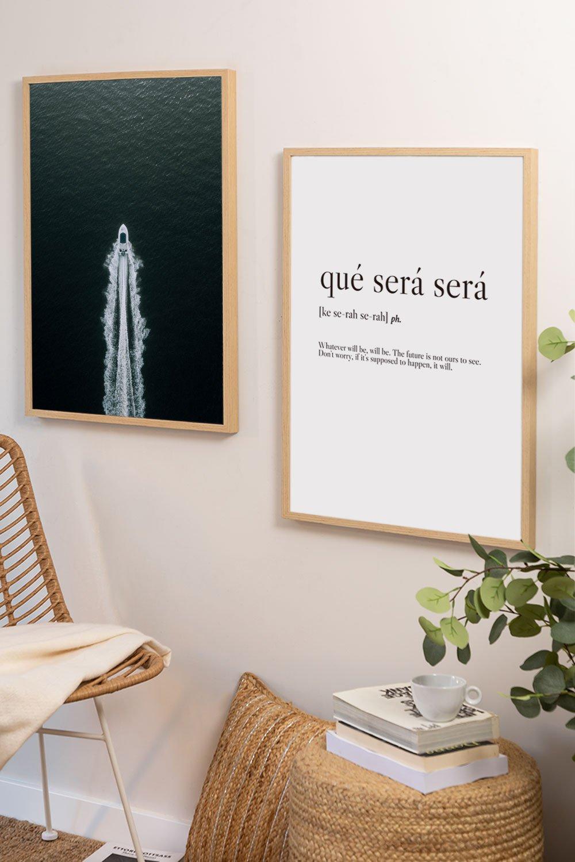 Set mit 2 dekorativen Blättern (50x70 cm) Boot, Galeriebild 1
