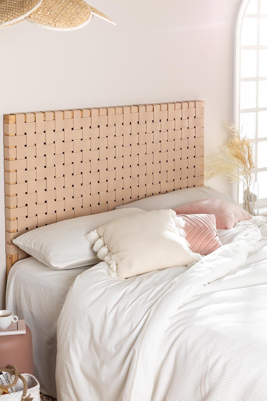 Zaid Holz- und Lederkopfteil für 150 cm Bett, Galeriebild 1