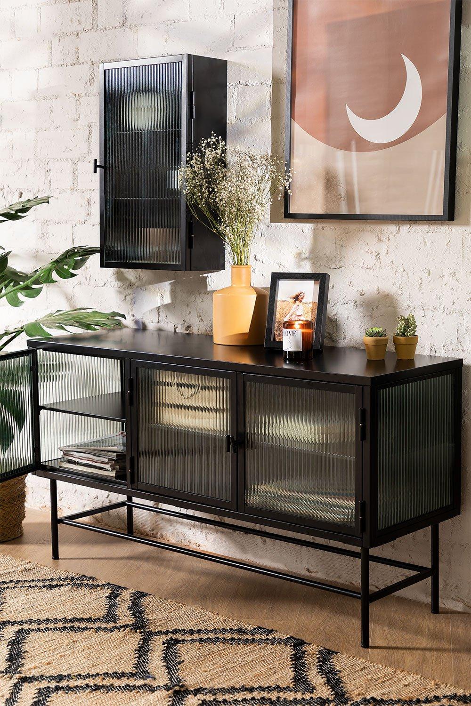 Fernsehschrank aus Metall und Glas Vertal, Galeriebild 1