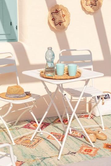 Klappbarer Gartentisch aus Stahl (60 x 60 cm) Janti