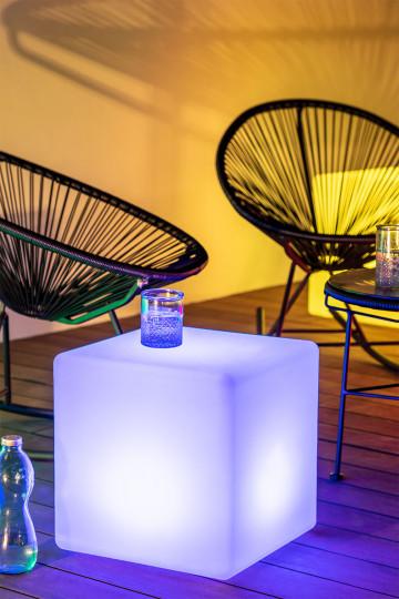 Lámpara de Suelo Led para Exterior Cubo