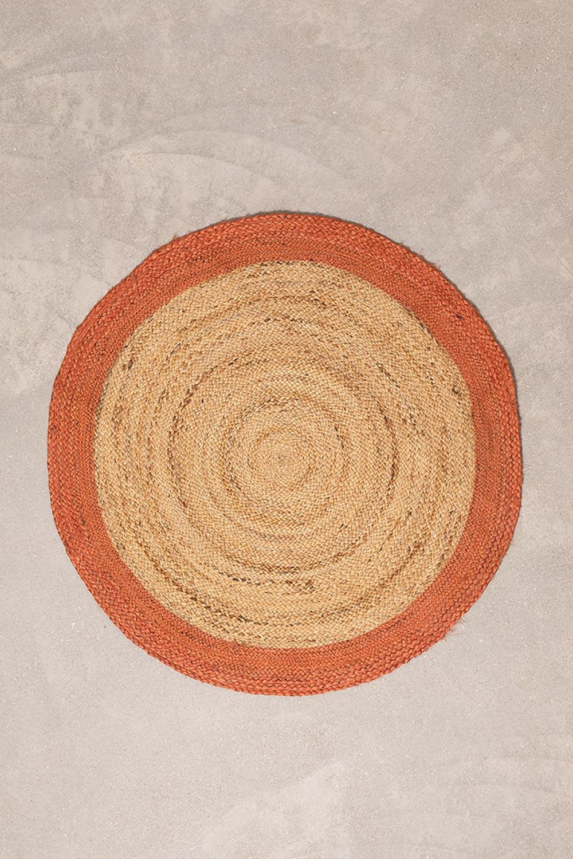 Alfombra en Yute Natural Redonda Dagna Colors, imagen de galería 1