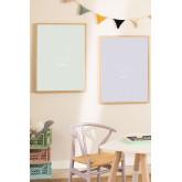 Set de 2 Láminas Decorativas (50x70 cm) Dinus Kids, imagen miniatura 1020754
