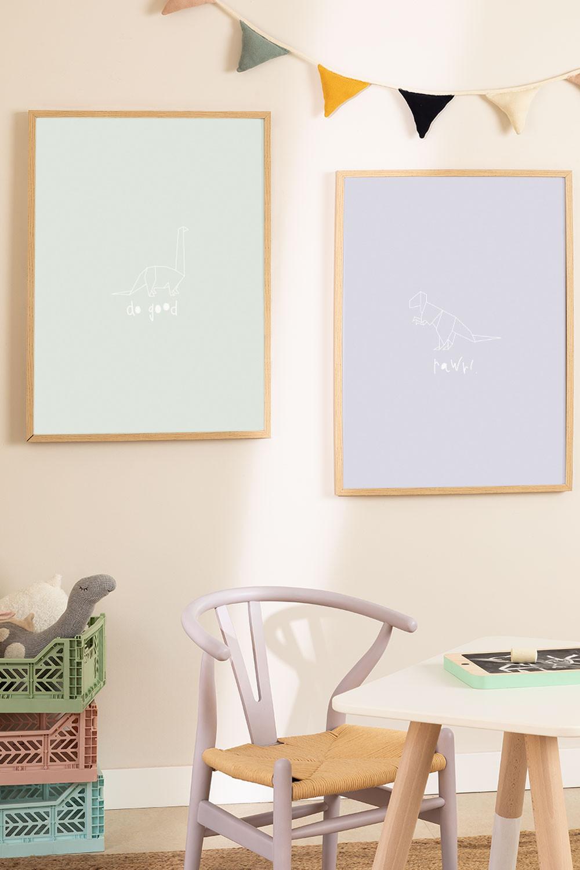 Set de 2 Láminas Decorativas (50x70 cm) Dinus Kids, imagen de galería 1020754
