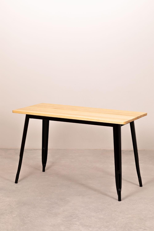 Mesa de Comedor Rectangular en MDF y Acero (120x60 cm) LIX, imagen de galería 1