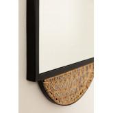 Espejo de Pared cuadrado en Ratán y Metal (50,5x36 cm) Thëkan , imagen miniatura 5