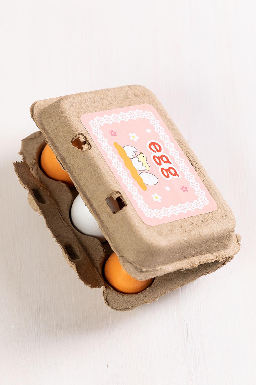 Huevera con 6 Huevos de Madera Okka Kids, imagen de galería 1