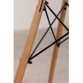 Mesa Redonda de Comedor en Cristal y Haya (Ø90 cm) Scand Edition, imagen miniatura 5