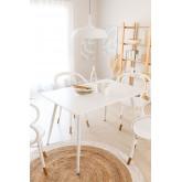 Mesa de Comedor Rectangular en MDF y Metal (120x80 cm) Lahs, imagen miniatura 1