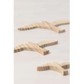 Set de 3 Figuras Decorativas en Madera de Pino Juno, imagen miniatura 3