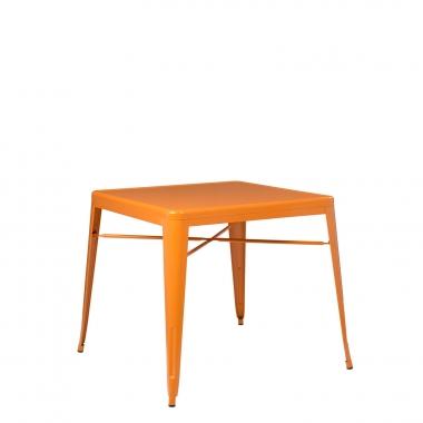 Mesa LIX X (80x80) - Naranja Azafrán