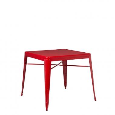 Mesa LIX X (80x80) - Rojo