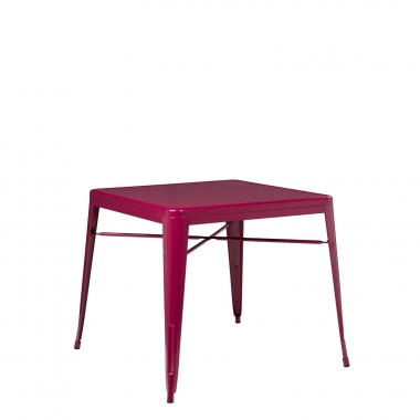 Mesa LIX X (80x80) - Rojo Sangría