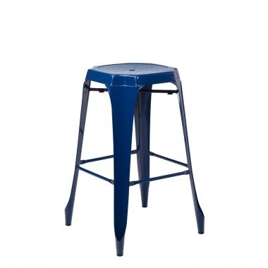 Taburete Alto Ziu - Azul Marino