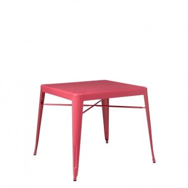 Mesa LIX X (80x80) - Rojo Frambuesa