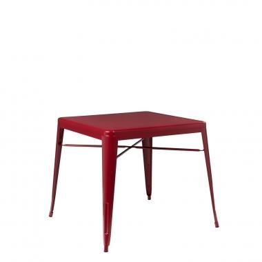 Mesa LIX X (80x80) - Rojo Burdeos