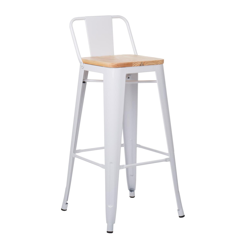 taburete alto con respaldo lix madera sklum On taburetes altos con respaldo