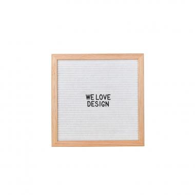 Tablero con Letras Ewi - Blanco