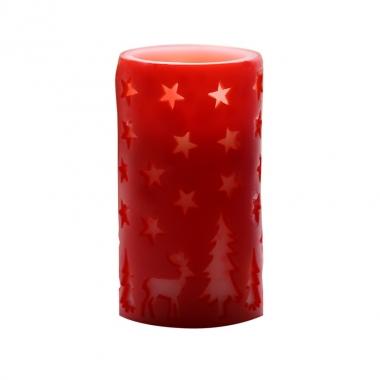 Vela LED Color Rojo 83G
