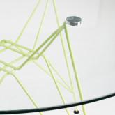 Mesa de Comedor Redonda en Cristal y Acero (Ø120 cm) Scand Brich Mate, imagen miniatura 4