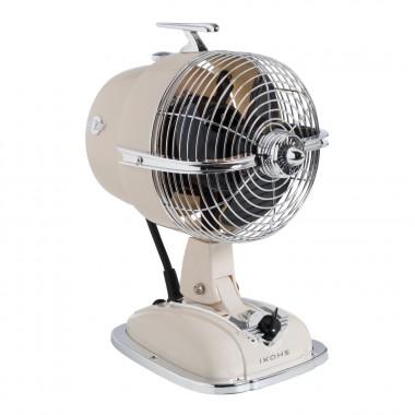 Ventilador de Mesa IKOHS Retro Line VT1612-IK con Difusor de Aromas - Beige Crema
