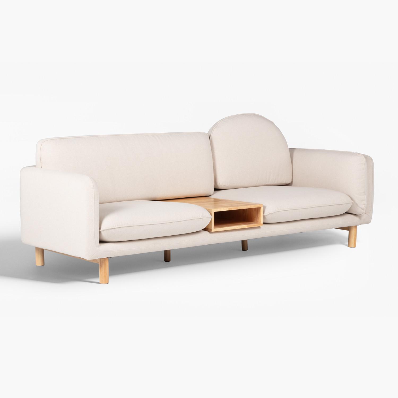 Sofá de 3 plazas en Tela Shatt, imagen de galería 1