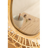 Espejo de Pared Ovalado en Ratán (60,5x51,5 cm) Zaan, imagen miniatura 3