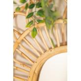 Espejo de Pared Ovalado en Ratán (60,5x51,5 cm) Zaan, imagen miniatura 2