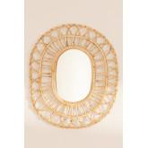 Espejo de Pared Ovalado en Ratán (60,5x51,5 cm) Zaan, imagen miniatura 4