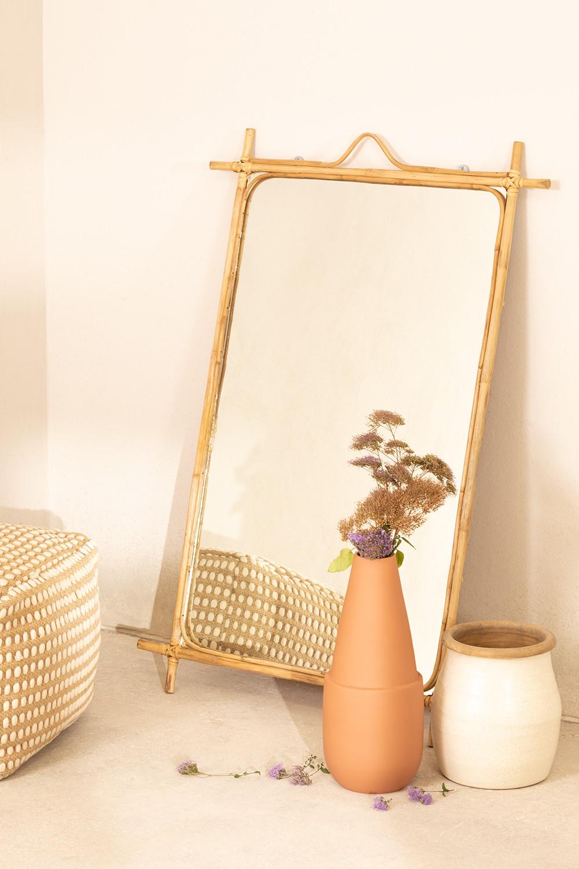 Espejo de Pared Rectangular en Ratán (101x68 cm) Keuke, imagen de galería 1
