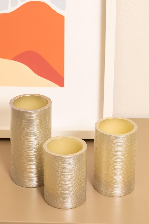 Velas Led Plateadas Dhels, imagen de galería 1