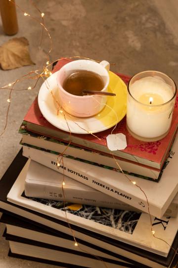 Set de 6 Tazas de Café con plato Tracya