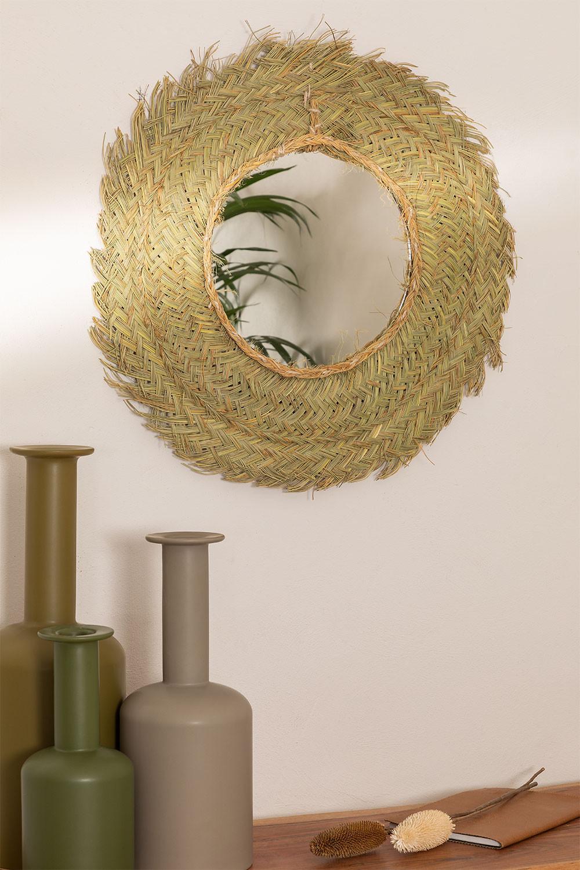 Espejo de Pared Redondo en Esparto (Ø53 cm) Leil, imagen de galería 1