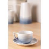 Set de 4 Tazas Café en Porcelana Mar, imagen miniatura 2