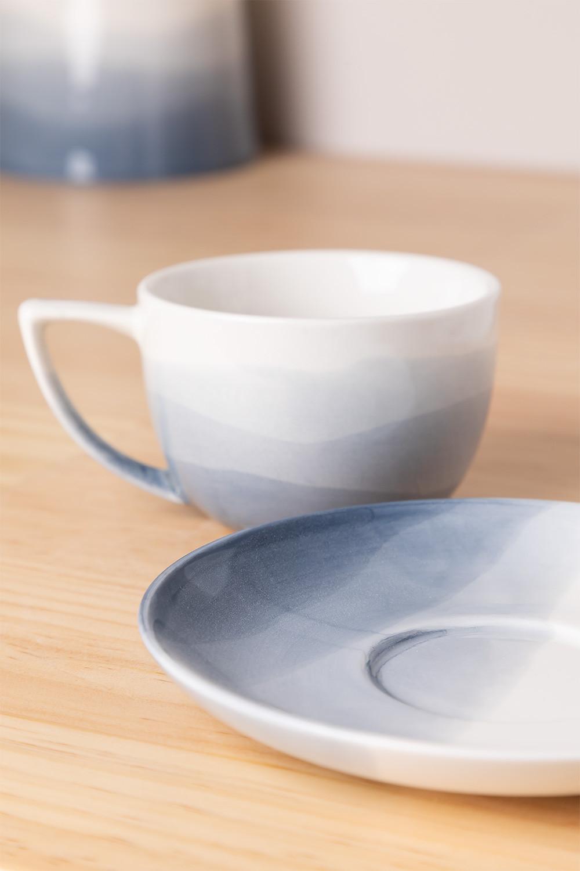 Set de 4 Tazas Café en Porcelana Mar, imagen de galería 1