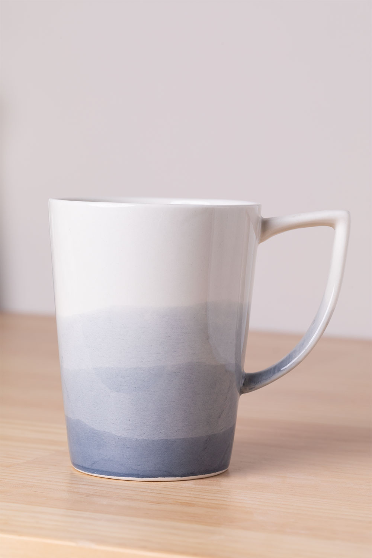 Pack de 4 Tazas en Porcelana 320 ml Mar, imagen de galería 1