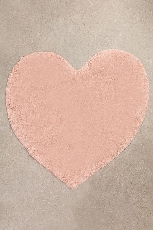 Alfombra Corazón en Algodón (118x120 cm) Sina Kids, imagen de galería 1