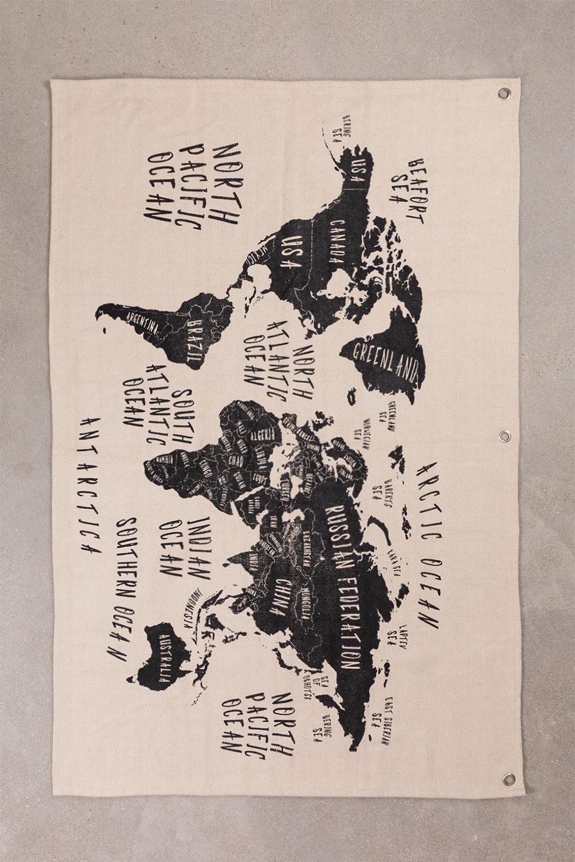 Mapa Decorativo de Pared en Algodón Terra, imagen de galería 1