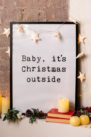 Láminas Decorativas de Navidad (50x70 cm) Niev