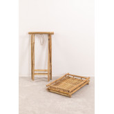 Mesa Auxiliar Plegable con Bandeja en Bambú Wallis, imagen miniatura 4