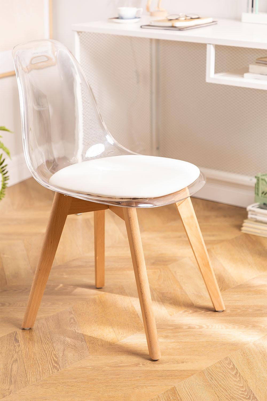 Silla de Comedor Nordic Transparente , imagen de galería 1