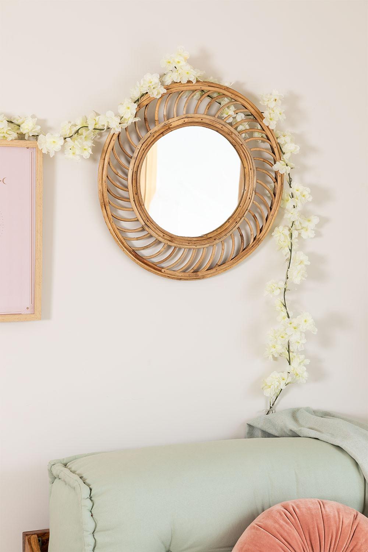 Espejo de Pared Redondo en Bambú (Ø50 cm) Bleah, imagen de galería 1