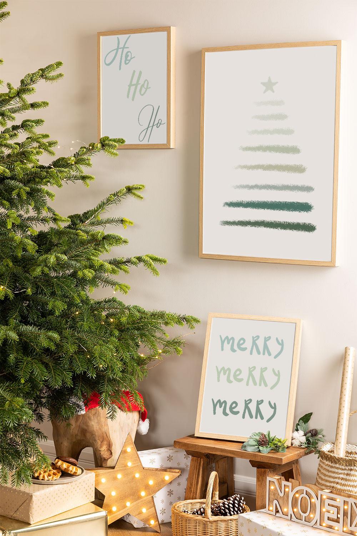 Set de 3 Láminas Decorativas de Navidad (50x70 y 30x40 cm) Belene, imagen de galería 1
