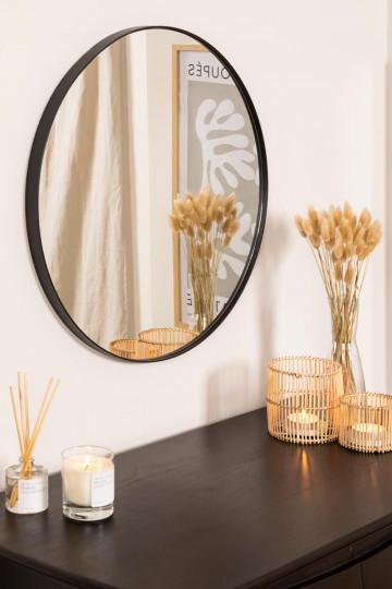 Espejo de Pared Redondo en Metal (Ø60,5 cm) Gon