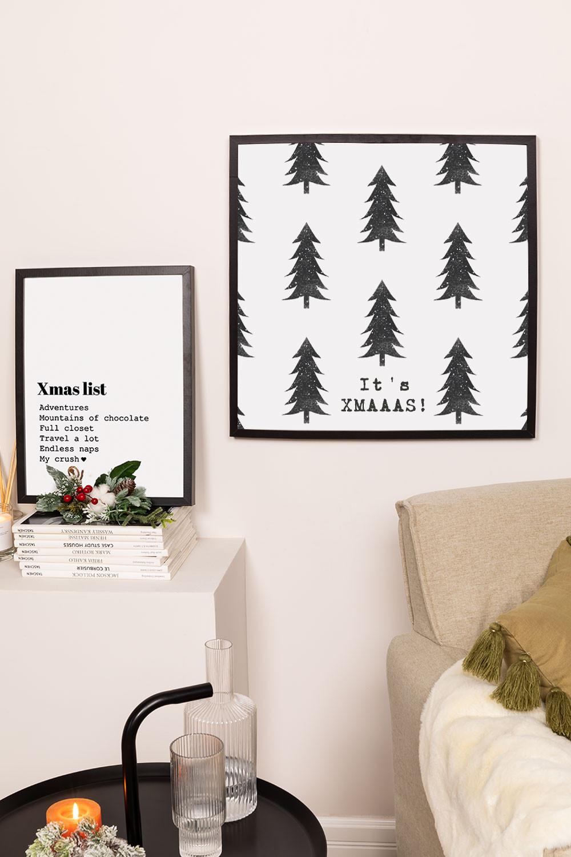 Set de 2 Láminas Decorativas de Navidad (50x50 y 30x40 cm) Wyrty , imagen de galería 1