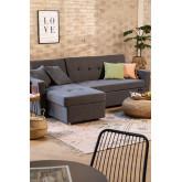 Sofá Cama Chaise Longue 3 Plazas Intercambiable en Lino Duom, imagen miniatura 1