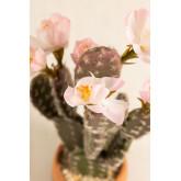 Cactus Artificial con Flores Opuntia, imagen miniatura 3