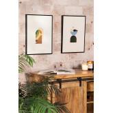 Set de 2 Láminas Decorativas (30x40 cm) Boem, imagen miniatura 1